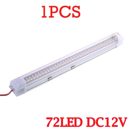 4PACK 72LED 12V Car Interior White Strip Lights Bar Lamp Caravan ON OFF Switch A