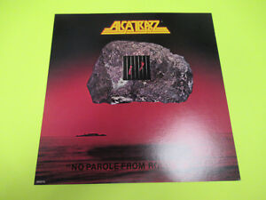 ALCATRAZZ NO PAROLE FROM ROCK N ROLL PROMO FLAT POSTER RECORD STORE PROMOTIONAL