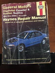 haynes repair manual general motors chevrolet cavalier and pontiac rh ebay com 2004 Cavalier Starter 2004 Chevy Cavalier Front Suspension