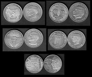 COLLECTION-DES-5-COPIES-DES-5-ESSAIS-ALU-DES-10-FRANCS-PETAIN-1941