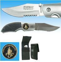 Couteau en acier 440 LÉGION ÉTRANGÈRE + étui / Housse de protection