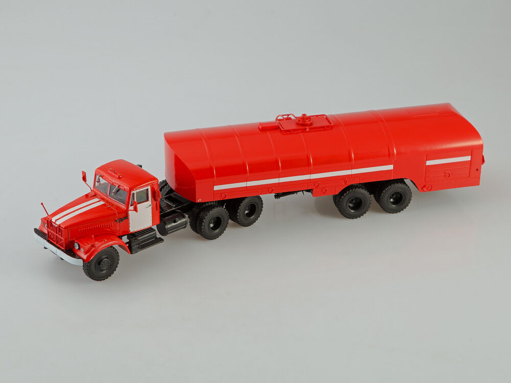 KRAZ 258 B1 with Fire Semitrailer TZ-22 AIST 1 43