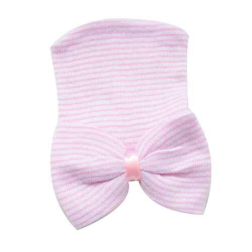 Newborn Baby Girls Hats Infant Nursery Beanie Hospital With Rhinestones Bow Caps
