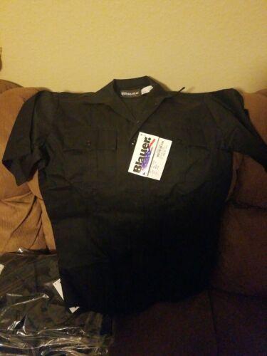 Black 2XL NWT Blauer 8713X Short Sleeve Shirts