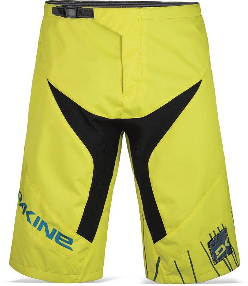 New 2016 Dakine Mens Descent Mountain Bike Cycling Shorts Sulphur 34
