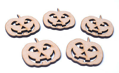 Wooden MDF Halloween Angry Pumpkin Shapes Bunting Craft Embellishment Decoration