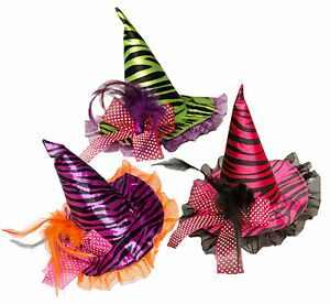 Mini-Witches-Fascinator-Witch-Hat-amp-Clip-Halloween-Accessory-Fancy-Dress