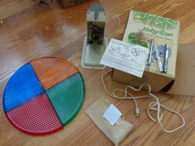 VINTAGE ROTATING COLOR WHEEL FOR SILVER ALUMINUM CHRISTMAS TREE Holly-Time   eBay