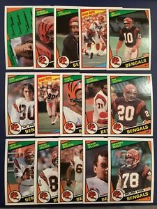 1984-Topps-CINCINNATI-BENGALS-Complete-Team-Set-15-COLLINSWORTH-ANDERSON-Sharp