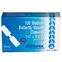 Adhesive Bandages Butterfly Box Of 100 on Sale