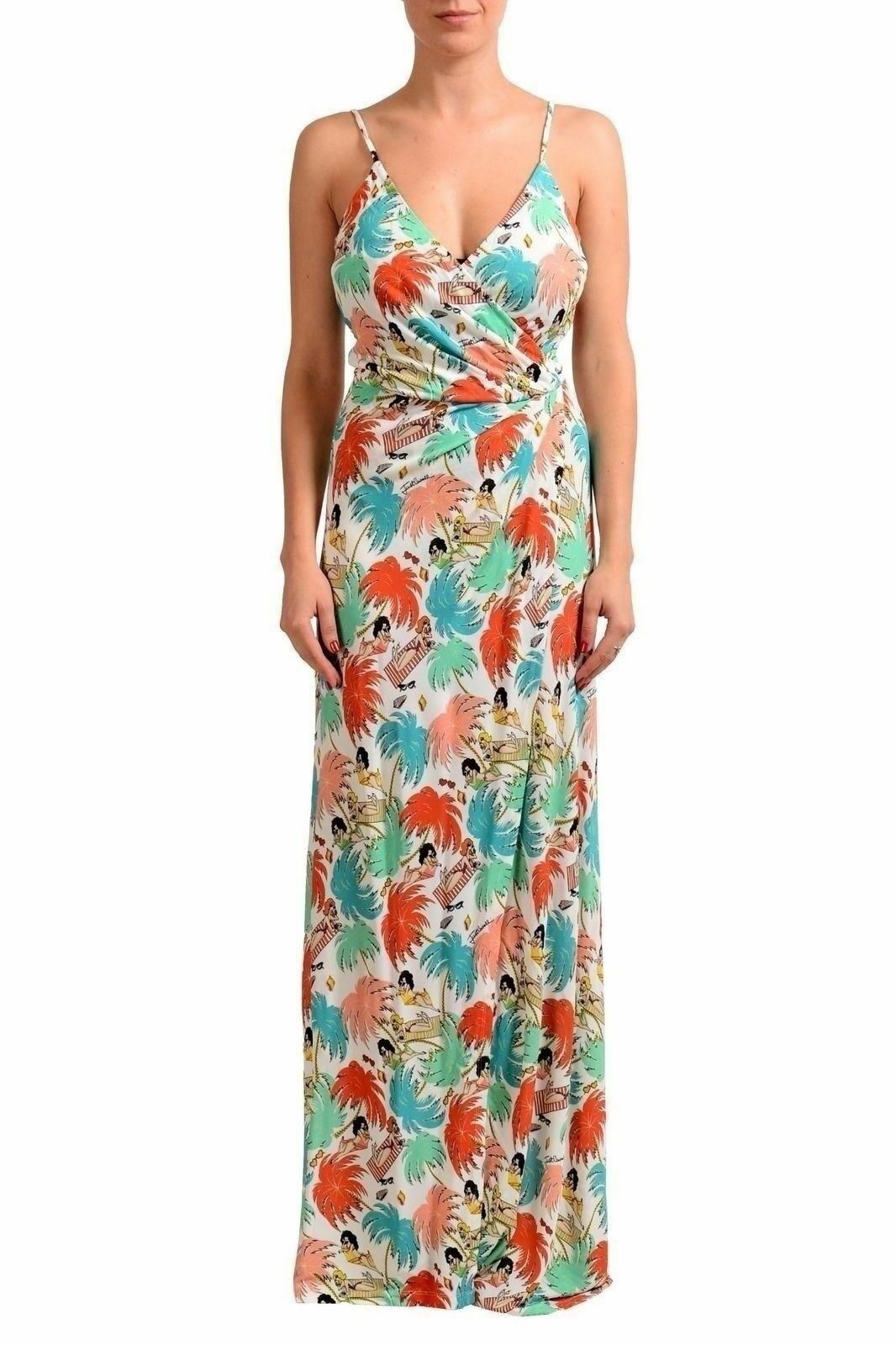 Just Cavalli Multi-color Sleeveless Women's Maxi Dress US s IT 40