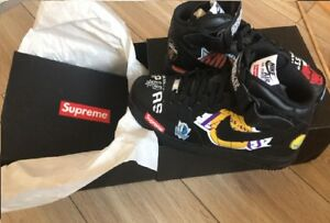 Details about Nike Air Force 1 Mid Supreme NBA 'Black' 11.5US