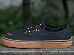 Image is loading VANS-AUTHENTIC-Black-Rubber-Gum-VN-0TSVBXH-Classic- 5bc822e217