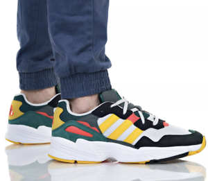 New-ADIDAS-Originals-Yung-96-Athletic-Sneaker-rasta-Casual-Mens-gray-gold-all-sz