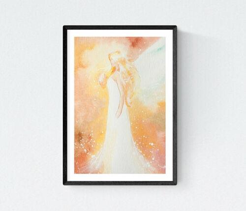 "Angel Art Photo /""Feeling you/"" Small Living Room Yoga Wall Decor Meditation Room"