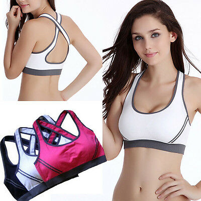 Women Padded Bra Racerback Top Athletic Vest Gym Fitness Sports Yoga Stretch LS7