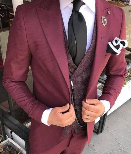 da Designer uomo Abito Red Bordeaux Blazer Slimfit Miled Gilet BZqfEd