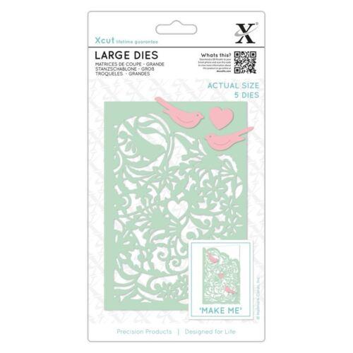 Large 5pcs Docrafts Metal Die Set Card Craft Die - Love Birds Xcut
