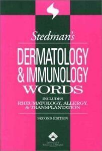 Dermatology and Immunology Words: Incl Rheumatology, Allergy & Transplantation