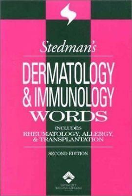 Dermatology and Immunology Words: Incl Rheumatology, Allergy & Transplantation | eBay