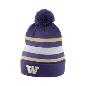 size 40 cfede fd1b1 Image is loading NIKE-Washington-Huskies-Cuffed-Knit-Hat-Beanie-Cap-