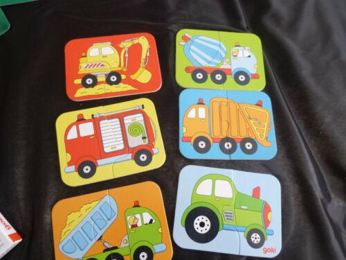 Feuerwehr u.a. Bagger Kipper Mini-Puzzle Fahrzeuge 6 Puzzle in der Box