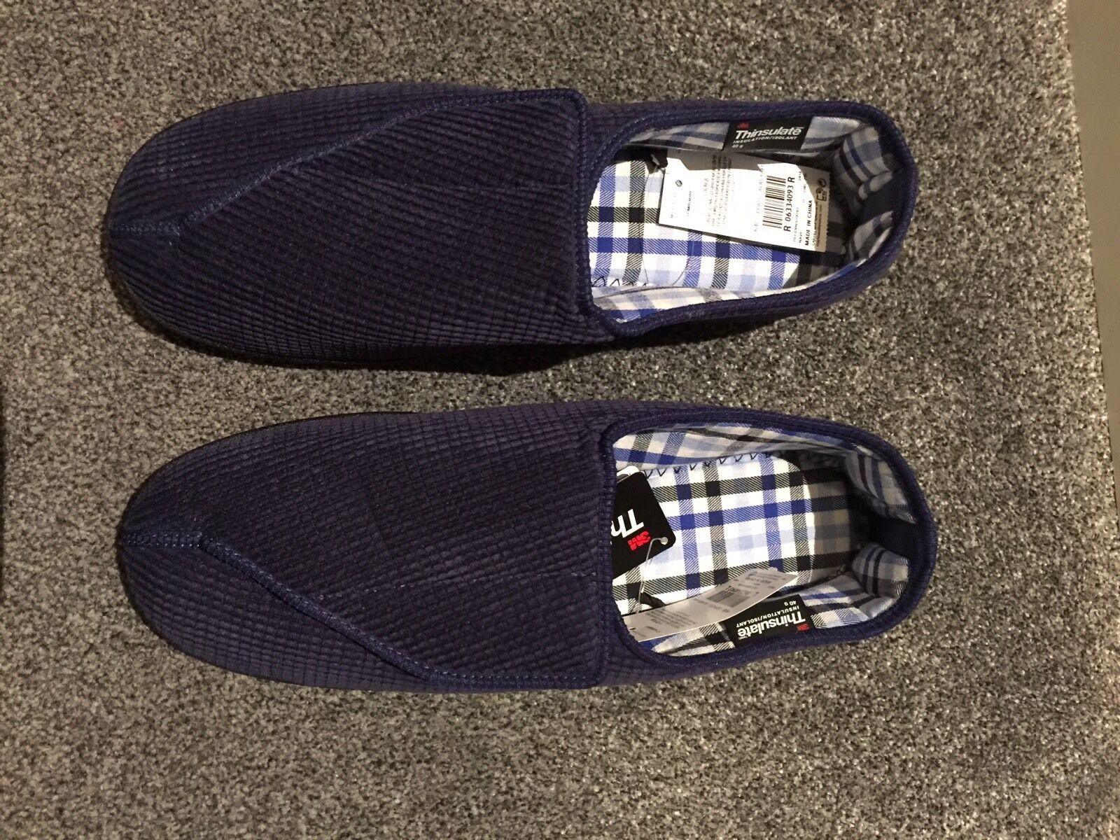 Mens Size 9 Velcro Slippers Marks And Spencer Ebay