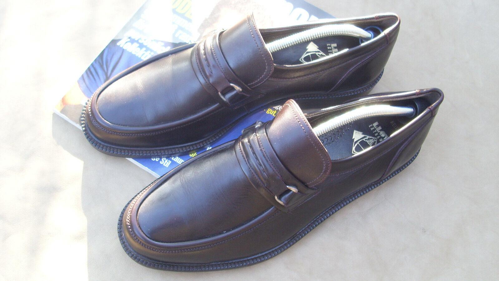 Lloyd Chaussures En Cuir Hommes taille 47 Slipper Marron Foncé Taille 12,5