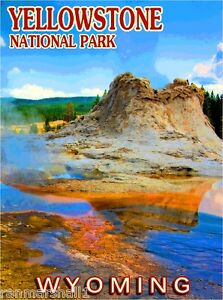 Details About Yellowstone National Park Wyoming United States Travel Advertisement Art Poster
