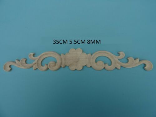 Decorative large rose and scroll center applique furniture moulding W104