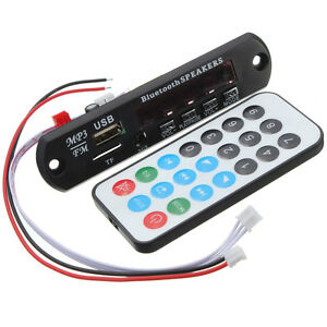 LED-Decodificador-MP3-WMA-Bluetooth-12V-Decoder-FM-Modulo-TF-Audio-Radio-Coche