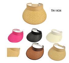 Wholesale 5pc Women Golf Tennis stretch Visor Mix Colors Sun Brim Sports Hat