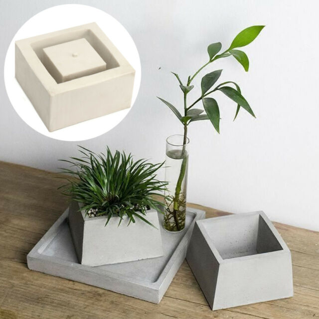 Geometric Flower Pot Silicone Molds Diy Garden Planter Concrete Vase