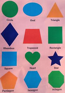 geometric shapes circle triangle square self adhesive peel off