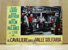 IL CAVALIERE DELLA VALLE SOLITARIA fotobusta poster Shane Western Alan Ladd A1