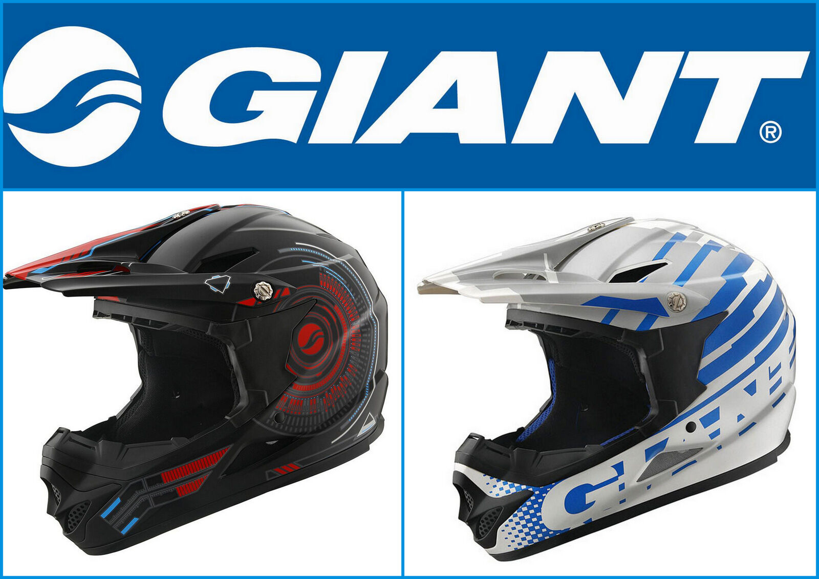 Casco integrale bici GIANT FACTOR full face helmet bike DH downhill enduro mtb