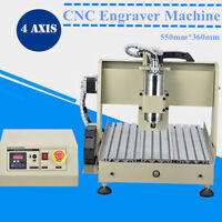 4 Axis Cnc Router Engraver 3040 Engraving Drilling Milling Craft Mach3 800w Usa