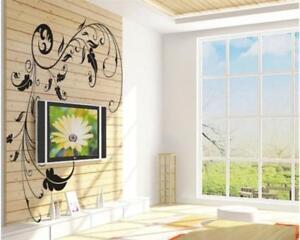 Wandtattoo-Wandsticker-Wandaufkleber-Blumen-Dekor-Tribal-Wohnraum-130-x-70-W150