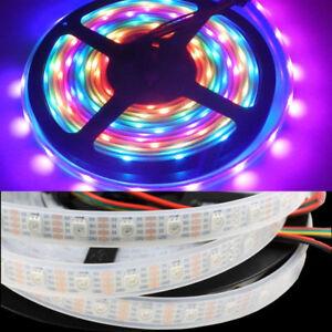 Details about 5V WS2813 5050 RGB Digital 5M 150 300 144 LED Strip Dual Data  Line Addressable