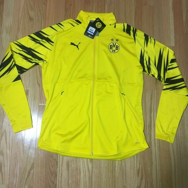 PUMA Borussia Dortmund BVB Stadium Track Jacket Yellow Mens Size ...