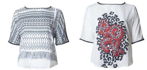 MARINA RINALDI Women/'s Valeria Graphic T-Shirt $185 NWT
