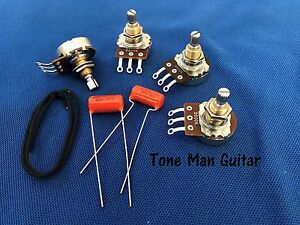 upgrade guitar wiring kit for gibson epiphone les paul pots Ibanez 7 String Wiring Diagram upgrade guitar wiring kit for gibson epiphone les paul pots & orange drop caps ebay Epiphone Wiring Schematics