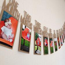 Geburtstag Party Banner Girlande Baby Geburtstagsfeier Deko 1-12Monat Foto Karte