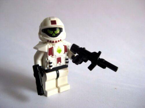 White Armor Lego Custom  ODST Minifigure Shock Trooper SMG Pistol