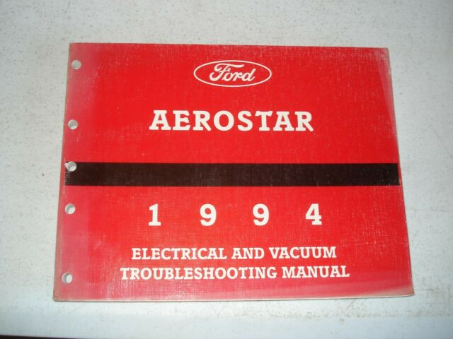 1994 Ford Aerostar Wiring Diagrams Service Manual Shop Book Electrical  U0026 Vacuum