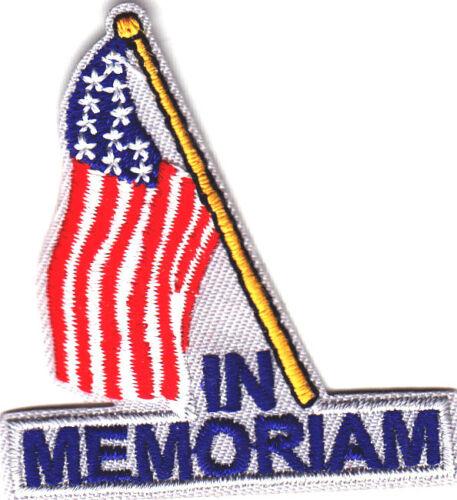 """/""""IN MEMORIAM/""""-Iron On Embroidered Applique//Patriotic Freedom,Military Symbol"""