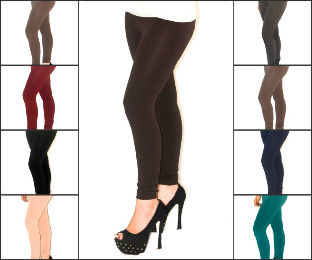 Ladies Fleece Lined Thick Thermal Winter Footless Women Legging 8 Colours