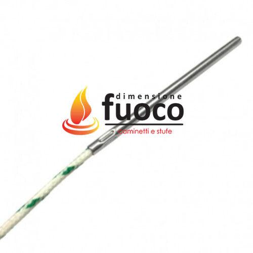 8002 TERMOCOPPIA TIPO K CON CAVO VETROTEX Lungh.cavo110 cm STUFE PELLET CLAM