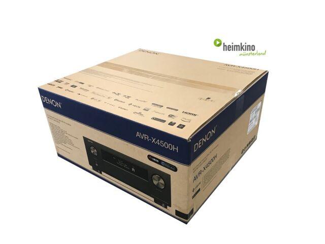 Denon avr-x4500h Av-receptor amplificador auro 3d HDR heos HDCP 2 2 (negro)  nuevo