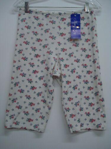 USA Made Nancy King Lingerie Thermal Pajama Shorts Large Multi #437C